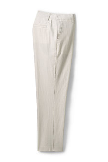 Women's Seersucker Crop Trousers