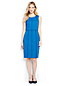 Women's Contrast Trim Ponte Jersey Sleeveless Dress