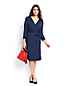 Women's Plus Three-quarter Sleeve Wrap and Tie Jersey Dress