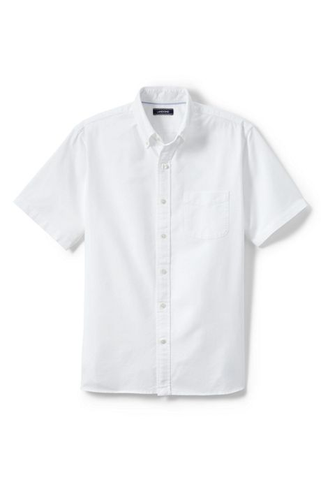 Men's Tall Short Sleeve Solid Sail Rigger Oxford Shirt