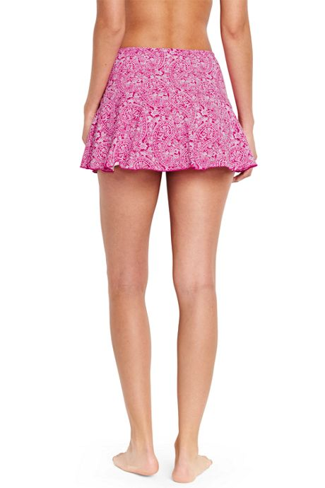 Women's Petite Flounce Mini SwimMini Skirt Control