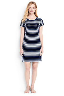 Women's Stripe Towelling Cover Up Dress
