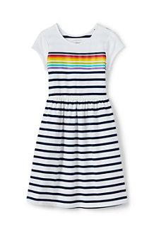 Jerseykleid mit Grafik-Print und angesetztem Rock für Mädchen