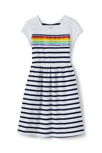 Jerseykleid mit Grafik-Print und angesetztem Rock für Baby Mädchen