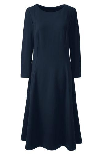 La Robe en Ponté Stretch Manches 3/4, Femme Stature Standard