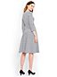 Women's Regular Stripe Seamed Ponte Jersey Flounce Hem Dress