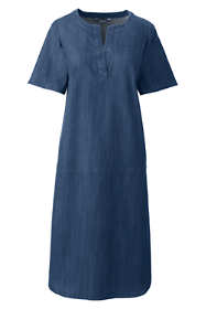 Women's Petite Short Sleeve Tunic Dress