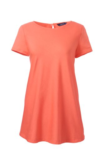 Women's Regular Short Sleeve Cotton Modal Tunic