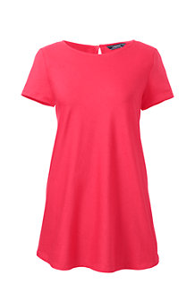 Women's Short Sleeve Cotton Modal Tunic