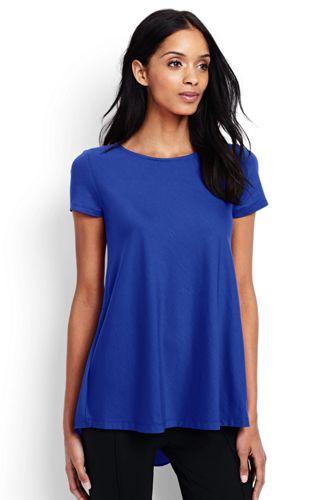Women's Regular Short Sleeve Cotton Modal Tunic