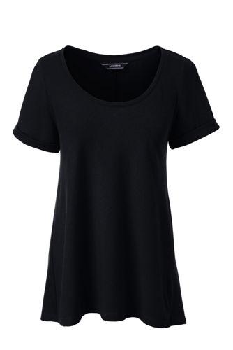 Le T-Shirt Evasé en Coton Modal Stretch, Femme Stature Standard