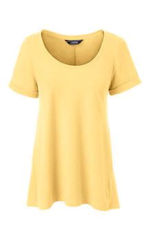 Le T-Shirt Evasé en Coton Modal Stretch, Femme