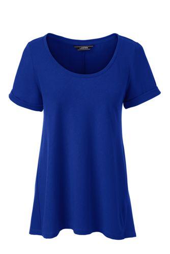 Women's Roll Sleeve Scoopneck Top
