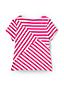 Little Girls' Tie Front Striped T-shirt