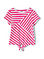 Little Girls' Tie Front Striped Tee