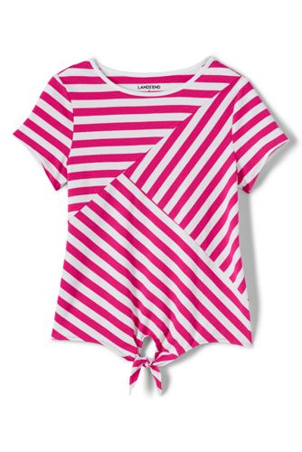 Little Girls' Tie Front Striped T-shirt