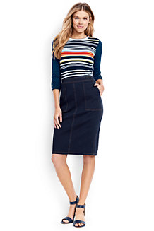 Women's Stretch Denim Pencil Skirt