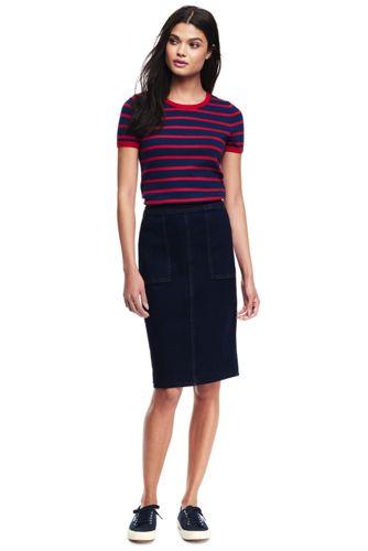 Women's Regular Stretch Denim Pencil Skirt
