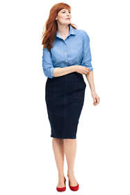 Women's Plus Size Jean Pencil Skirt