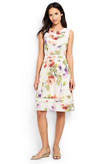 Geblümtes Kleid mit Lochspitze für Damen in Normalgröße