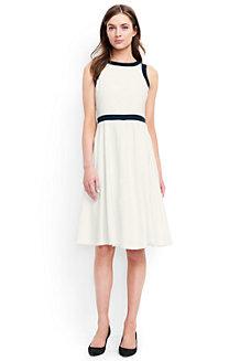 Ausgestelltes Colorblock Kleid im Leinen-Viskosemix  für Damen