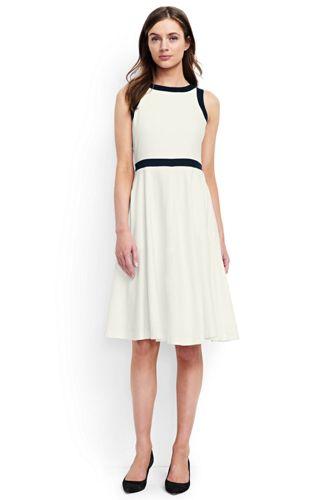Women's Regular Woven Colourblock Fit and Flare Dress