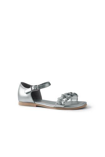 Girls' Ankle-strap Flower Sandals