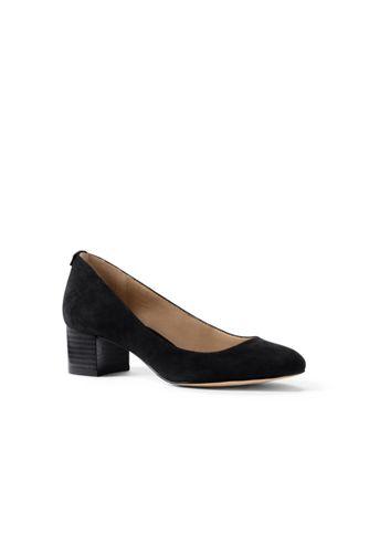 Para Mujer Zapatos De Gamuza Bloque De Tacón - 4,5 - Tierras Rojas Terminan