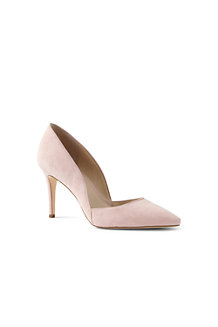 Veloursleder-Pumps mit Cut-outs