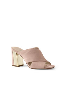 Women's  Crossover Suede Mule Sandals