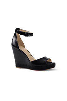 Women's Regular Stacked Wedge Sandals