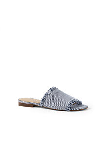 Women's  Fringed Slide Sandals