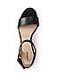 Women's Regular Block Heel Leather Sandals