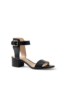 Women's Block Heel Leather Sandals