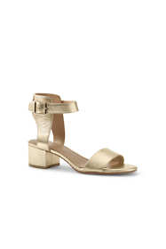 Women's Heeled Ankle Strap Sandals