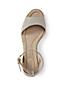 Les Sandales Compensées Classiques, Femme Pieds Standards