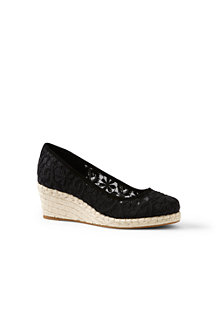 Women's Lace Espadrille Wedge Shoes