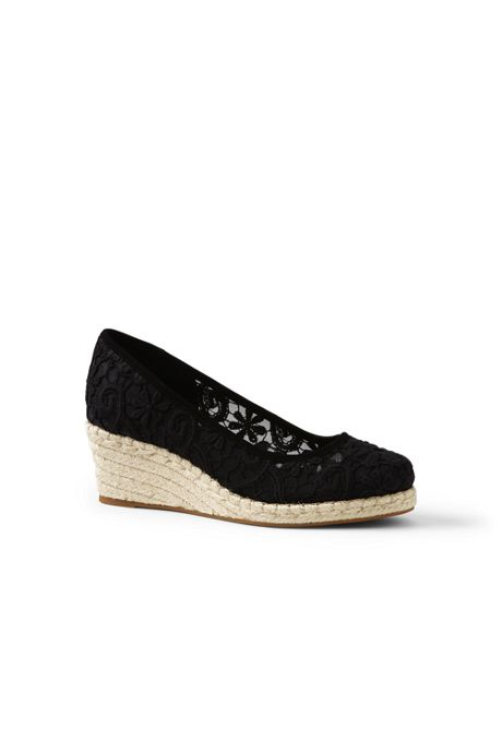 Women's Lace Espadrille Wedges