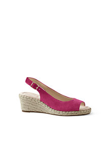 Women's Suede Espadrille Wedge Sandals