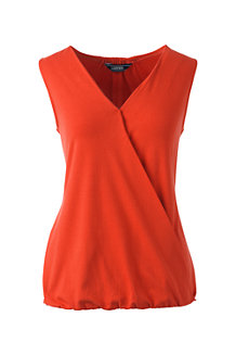 Women's Sleeveless Jersey Wrap Top