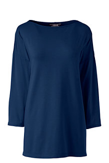 Women's Cotton Modal Drop Shoulder Tunic