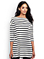 Women's Petite Stripe Dropped Shoulder Tunic