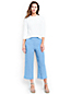 Women's Regular Linen Wide Leg Crop Trousers