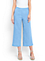 Women's Linen Wide Leg Crop Trousers