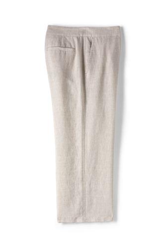 Le Pantacourt Large en Lin, Femme Grande Taille