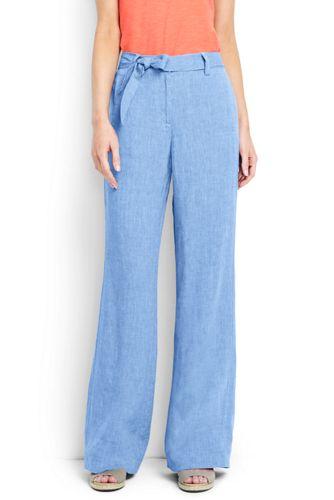 Le Pantalon Large en Lin, Femme Stature Standard