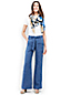 Women's Stripe Linen Tie-waist Wide Leg Trousers