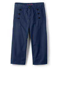 Little Girls Sailor Cropped Pants