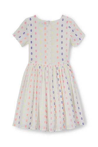 Gepunktetes Jacquard-Kleid für kleine Mädchen