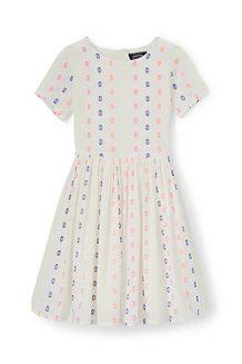 ガールズ・ツイル・ドレス/ジャカード/半袖